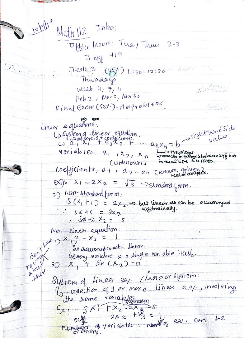 MATH 112 Final: math 112 study notes