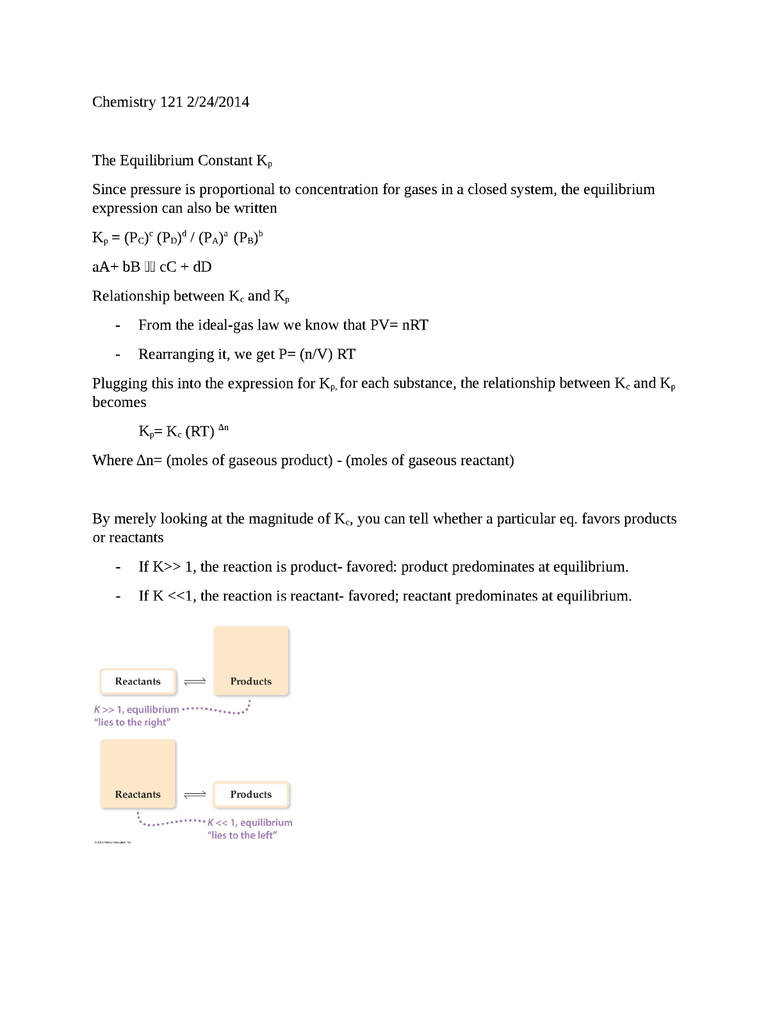 A CHM 122 Study Guide - Stoichiometry, Molar Mass, Equilibrium Constant