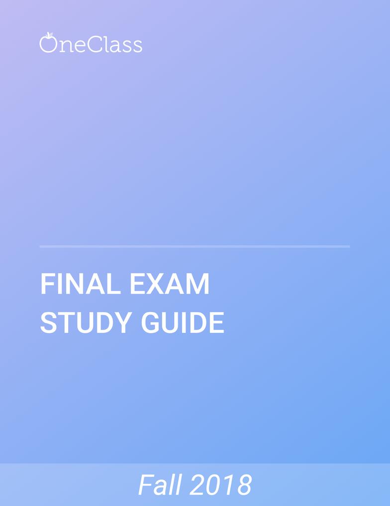 CS 18000 Study Guide - Comprehensive Final Exam Guide - Java Virtual  Machine, Integer, Construction