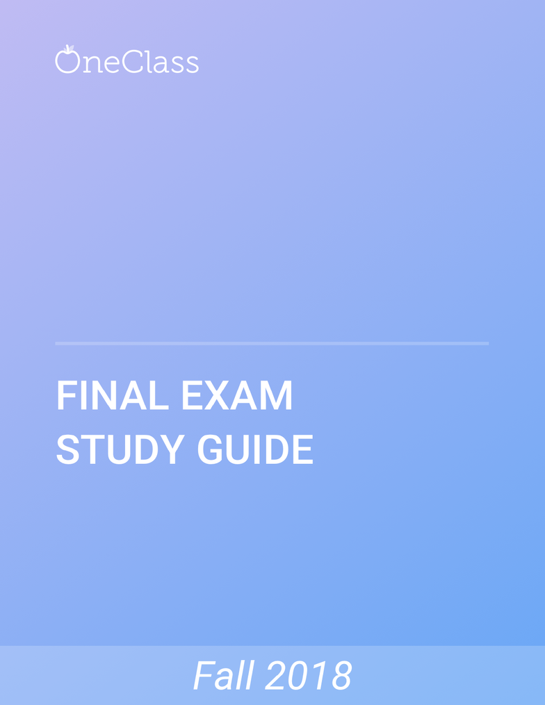 POLS 3230 Study Guide