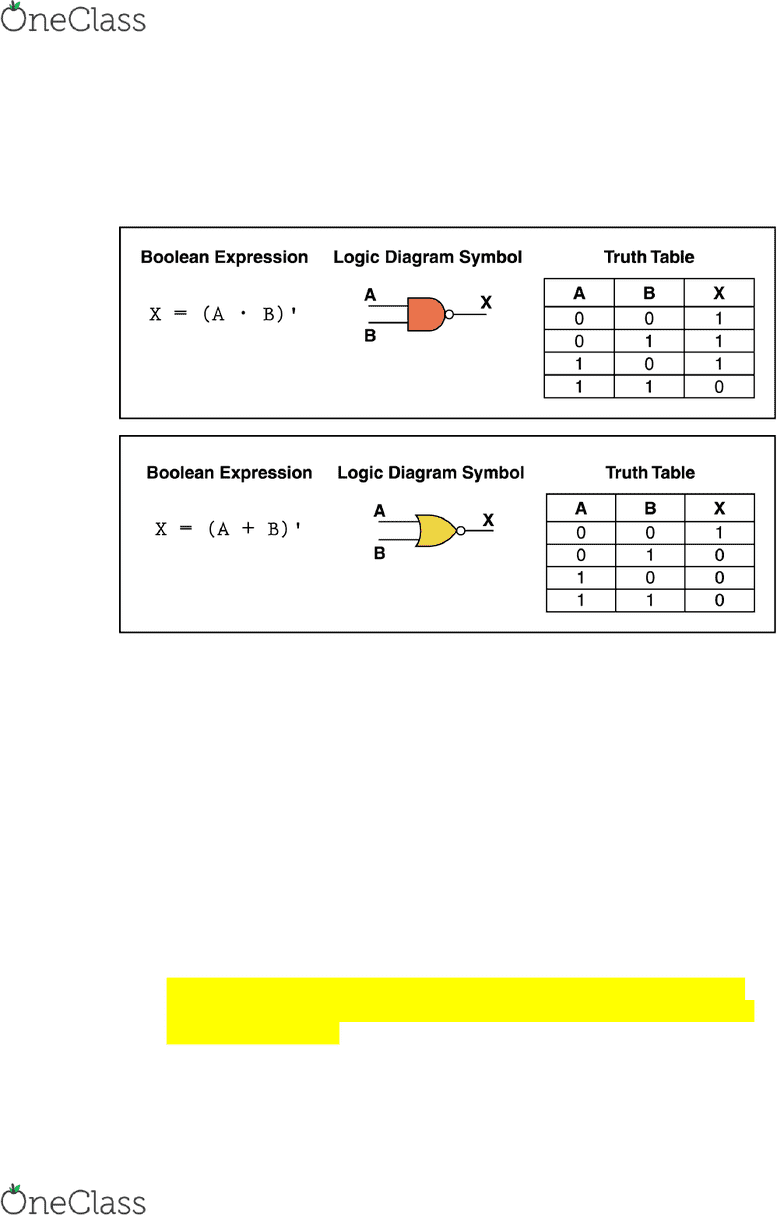 Eecs 1520 Textbook Notes Winter 2018 Chapter 4 Nor Gate Logic Diagram From Truth Table Circuit Level